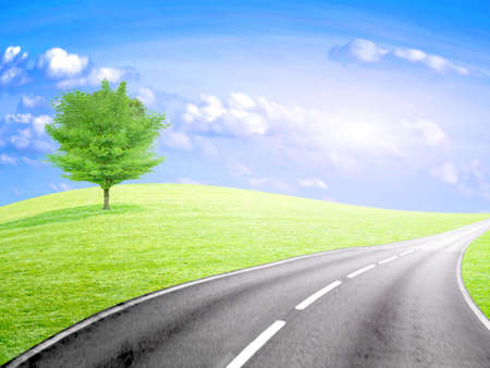 abstract road and sky Stock Photo - 6552076
