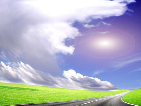 abstract road and sky Stock Photo - 6552062