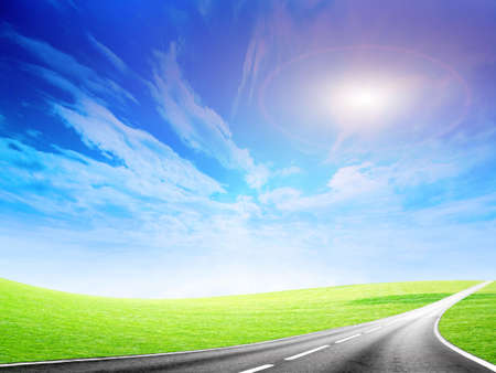 abstract road and sky Stock Photo - 6552074