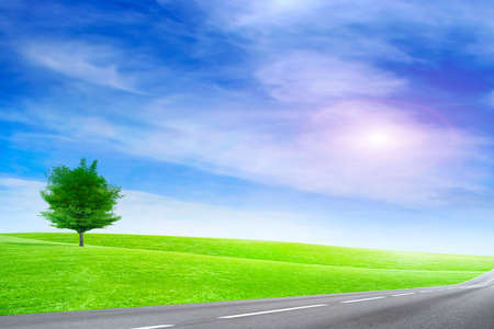beautiful solar blue sky on country freeway Stock Photo - 6551989