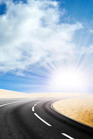 Straße der Wüste