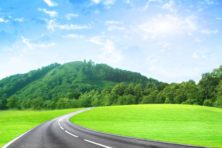 abstract scene car road on background year sky Stock Photo