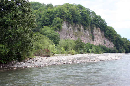 river and mountain photo