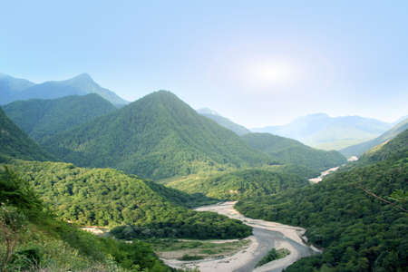 stock vista: mountain river Stock Photo
