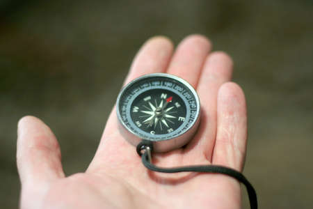 compass on the hand photo