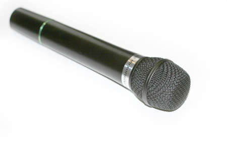 shure: mike on the white Stock Photo
