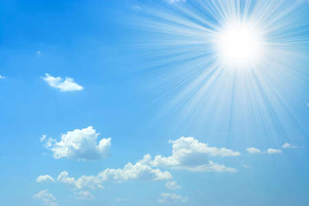 sun and sky Standard-Bild