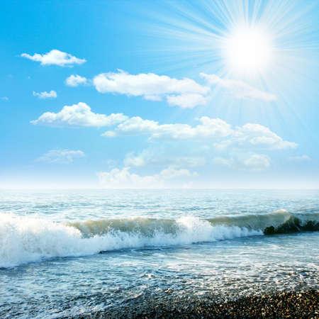 solar sea beach Archivio Fotografico