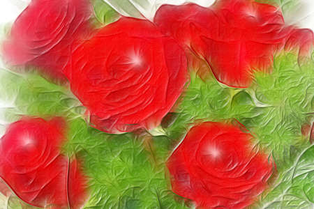 abstract background with flowers rose photo