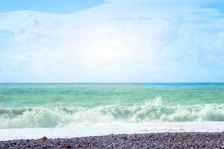 sea under solar sky