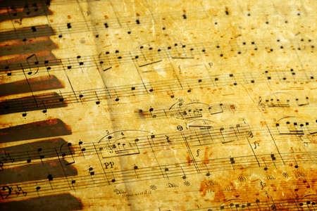 rękopis: muzyki grunge jako tÅ'o Zdjęcie Seryjne