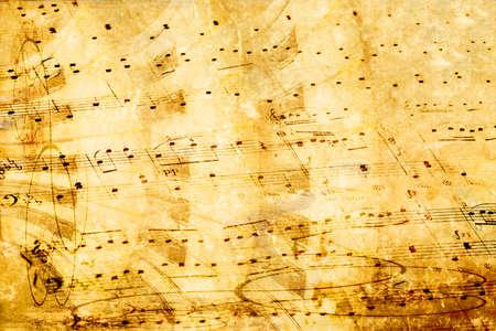 モンタージュの背景として美しい音楽グランジ 写真素材