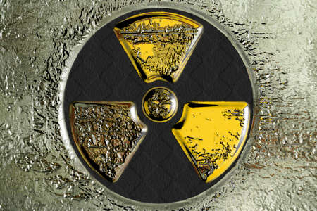 radiactividad: escena abstracto como peligro de radiaci�n de fondo