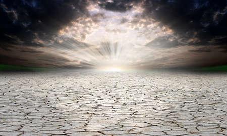 desert landscape: stone desert as texture background  Stock Photo