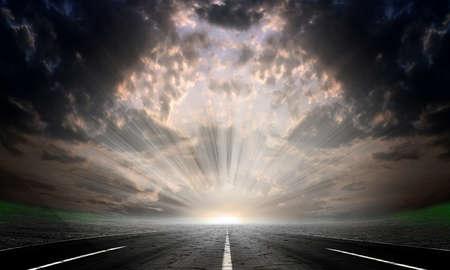 Straße auf der steinerne Wüste