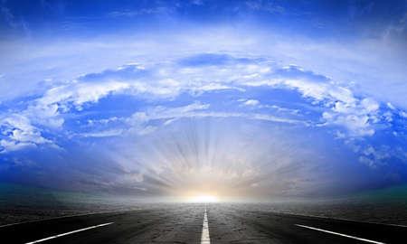Straße auf der Wüste