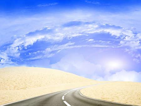 road on the desert Stock Photo - 8582196