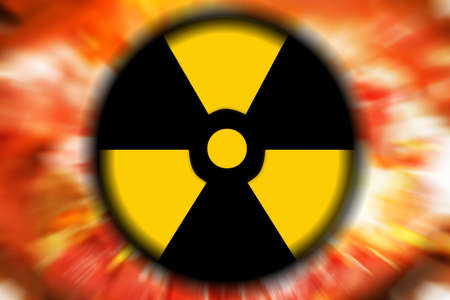 polution: abstract scene as background radiation danger Stock Photo