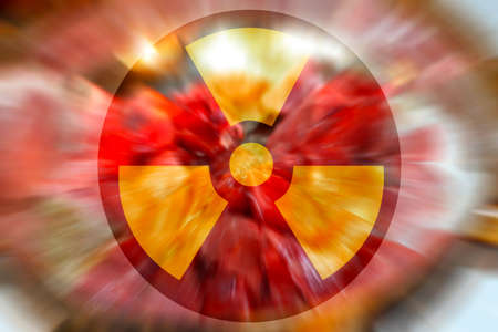 abstract scene as background radiation danger Stock Photo