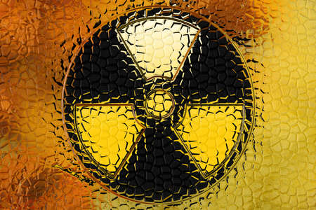 fallout: abstract scene as background radiation danger Stock Photo