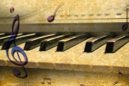 抽象的なシーンの音楽グランジ テクスチャ紙 写真素材