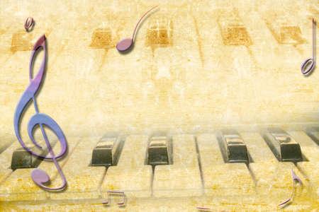 音楽グランジ テクスチャ紙