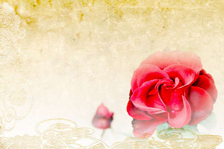 abstract scene with flowers as background photo