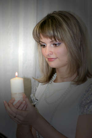 burninging candle Stock Photo - 8851056