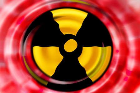 meltdown: abstract scene as background radiation danger Stock Photo