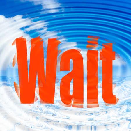 dungy: wait Stock Photo