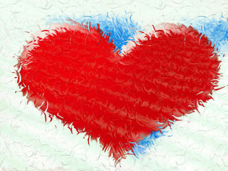 abstract drawn background with scene heart photo