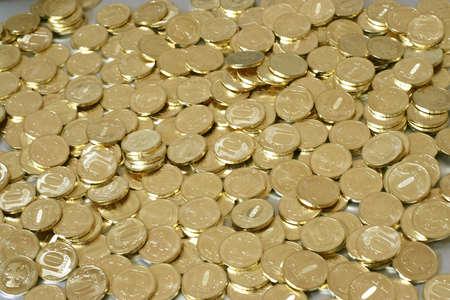 russian metallic coins nominal value ten roubles photo