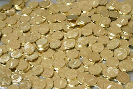 roubles: russian metallic coins nominal value ten roubles