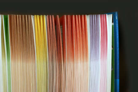 sheets miscellaneous colour in new book Stock Photo - 9719578