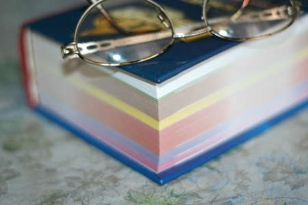 spectacles and sheets book Stock Photo - 9340049