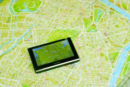 GPS と地図 写真素材