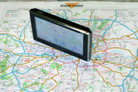 turism: GPS and map