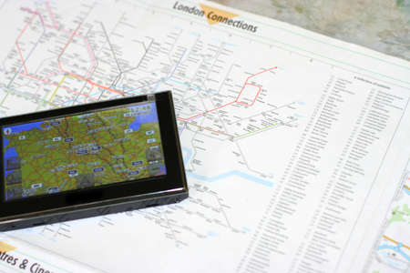 GPS and map Stock Photo - 9367454