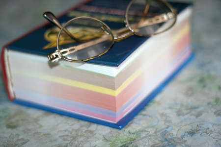 spectacles and sheets book Stock Photo - 9381597