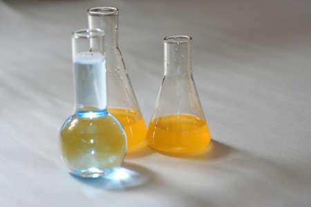 undertaking: set chemical test tube for undertaking scientific developments