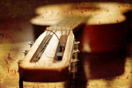 Astratto chitarra acustica scena come musica di sottofondo Archivio Fotografico - 16230657