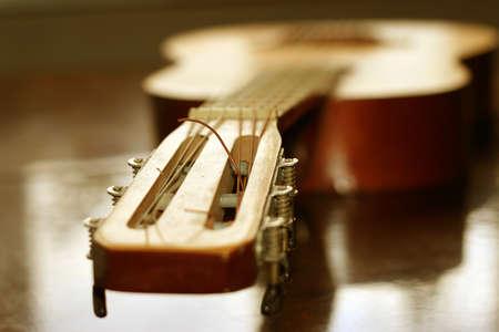 guitarra acustica: guitarra ac�stica como fondo de m�sica Foto de archivo
