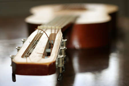 acoustic guitar as music background photo