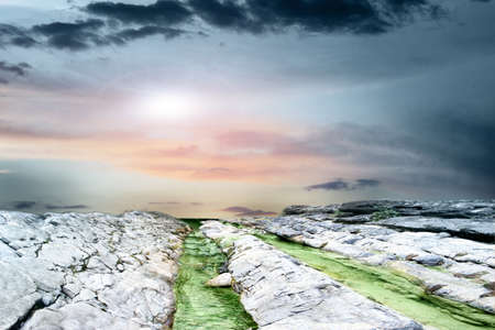 abstract scene with mountain stream as travel background Stock Photo - 9492406