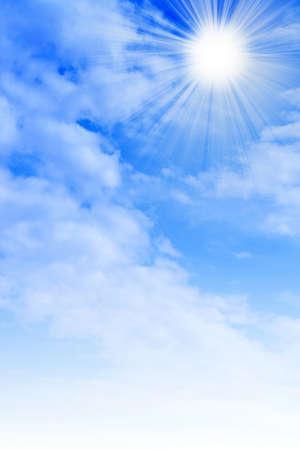 太陽の空と抽象的な背景