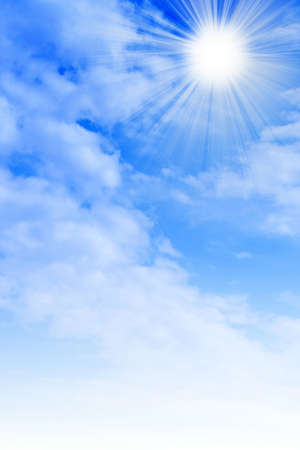 Sfondo con cielo solare Archivio Fotografico - 9689549
