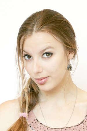 close up portrait of a woman photo