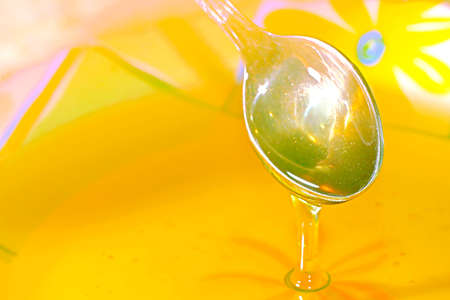 scene honey in plate as food background Stock Photo - 10537134