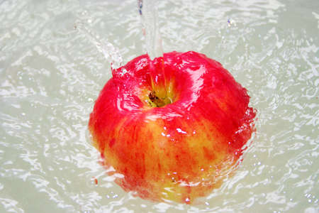 apple in current water Stock Photo - 10840957