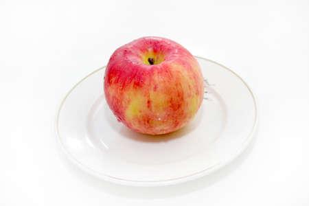 scene ripe apple as bio food background photo